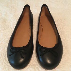 J Crew Classic Leather Ballet Flats